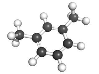 Xylene (meta-xylene, xylol) aromatic hydrocarbon, molecular mode