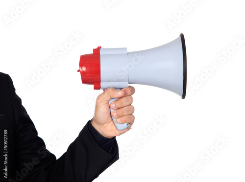 Someone with a Megaphone for proclaiming something