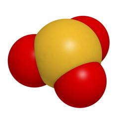 Sulfite (sulphite) food and wine preservative, molecular model