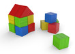 Wir bauen uns ein Haus aus bunten Bauklötzen 2