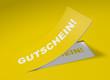 3D Etikett Gelb - Gutschein!