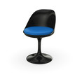 Retro Design Stuhl - Schwarz Blau