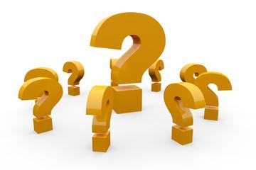 Fragen über Fragen Konzept - Orange 2