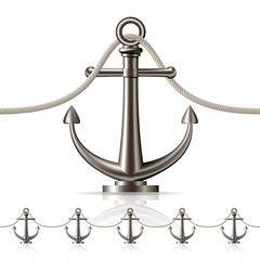 Seamless fence featuring an anchor