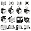 Set of icons of books. Vector graphic.