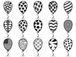 black pattern balloon icons