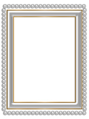 Frame with pearls