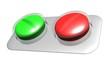 rote und grüne Tablette