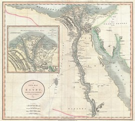 Egypt vintage map