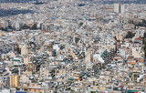 Dense residential area in Athens, Greece