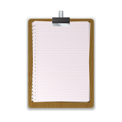 Wooded Clipboard with lined paper