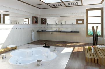 modernes Badzimmer mit Whirlpool