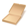 carton pizza box on white background