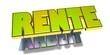 3D Goldzeichen - Arbeit - Rente