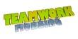 3D Goldzeichen - Teamwork - Mobbing