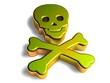 3D Goldzeichen - Totenkopf