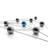 Netzwerk und Business - 3D Grafik / 3d Illustration