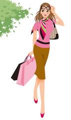 ショッピング、女性
