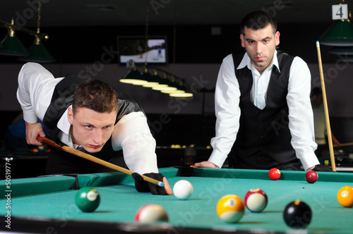 professional people play snooker