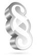 3D Paragraph Icon White/Silver