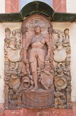 Epitaph (1538) of knight Jorg von Bach. Offenburg, Germany