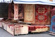 street stall with resale of ancient Persian carpets