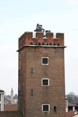 mighty medieval tower old used as prisons for burglars