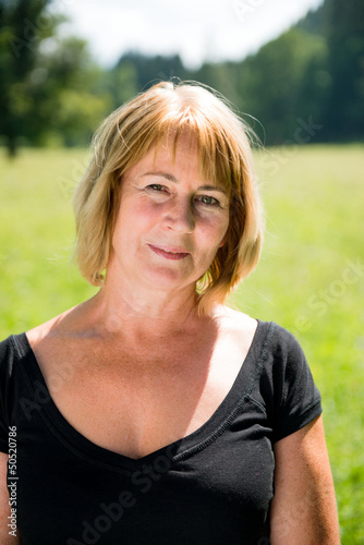 Senior woman outdoor portrait