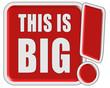 !-Schild rot quad THIS IS BIG