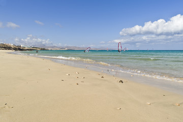 People doing Windsurf in Fuerteventura