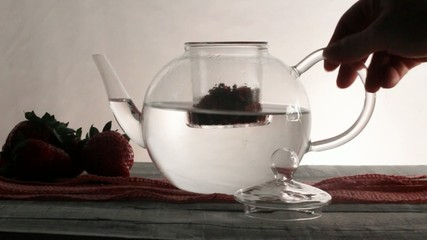 strawberry infusion tea