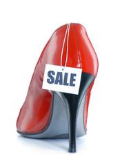 Zapato rojo de tacón en venta,Calzado femenino,vender,promoción.