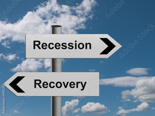 Recession recovery - choice of direction, sign