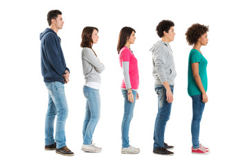 People Standing In A Row