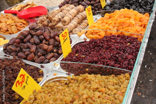 Dried fruits, as presented at the market