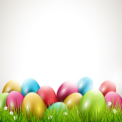 Modern Easter background with place for text