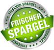"""Button Banner """"Frischer Spargel"""" grün/silber"""