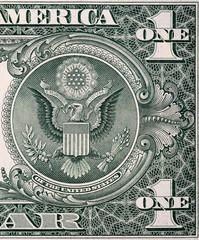 Back of one dollar bill