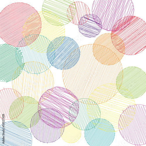Vector pancil drawn circles background
