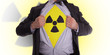 Business man with radiation t-shirt