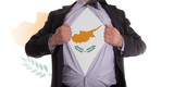 Business man with Cypriot flag t-shirt