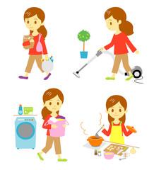 家事(買い物、掃除、洗濯、料理)