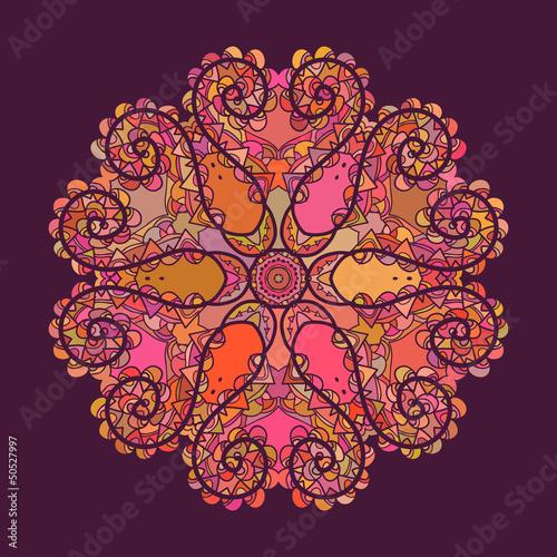 Oriental mandala motif - 50527997