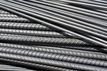 Steel rod in construction site