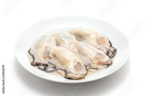 Fresh oysters prepared for cooking