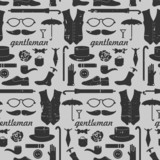 Seamless pattern with various elements for gentlemen