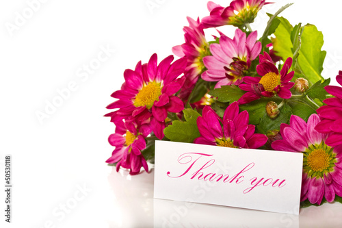 thanks with flowers