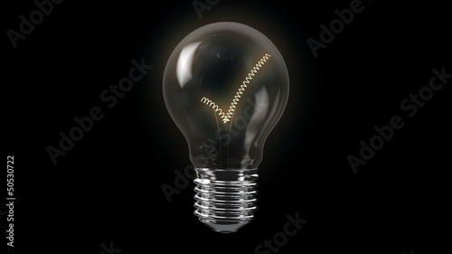 Check Mark Bulb with Alpha Channel