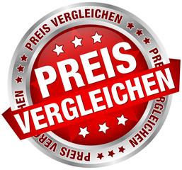 """Button Banner """"Preis vergleichen"""" rot/silber"""