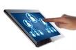 Tablet social media icon